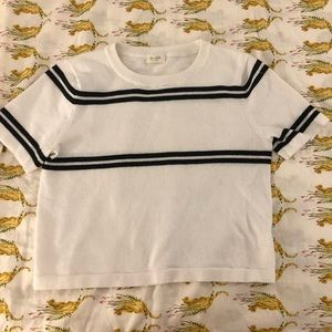 Women's John Galt white sweater crop top